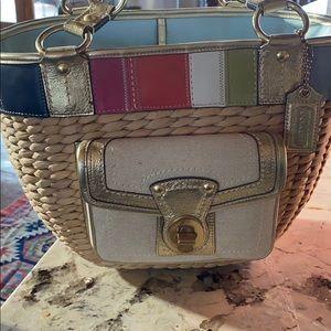 Beautiful Coach picnic/shopper/beach handbag